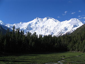 Ninth-highest: Nanga Parbat, a dangerous mountain to climb, is in the Kashmiri region of Gilgit-Baltistan in Pakistan