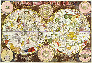 (Celestial map from the 17th century, by the Dutch cartographer Frederik de Wit. Frederick de Wit (1630–1698))