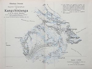 Kangchenjunga Map by Jacot-Guillarmod, 1914