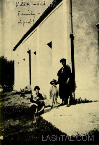 Aleister Crowley and Family at Cefalu