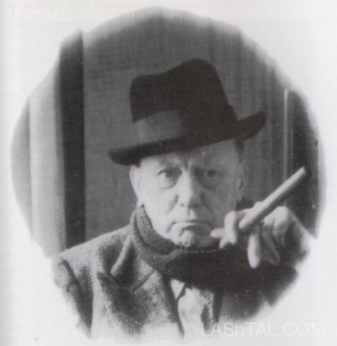 Aleister Crowley channels his inner Churchill