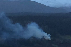 Boleskine House fire. Picture: BBC News