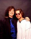 Jimmy Page with Eddie Van Halen