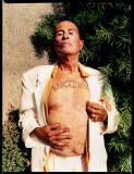 Kenneth Anger with Lucifer tattoo