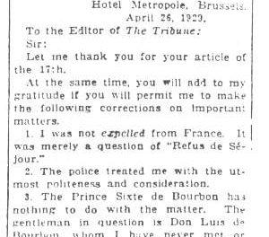 1929 April 28 – The Tribune