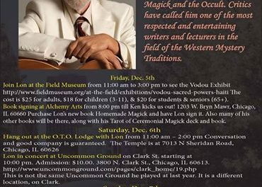 Lon Milo DuQuette in Chicago December 5-7