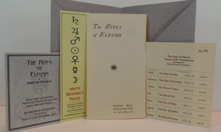 Rites Of Eleusis: 100th Monkey Press