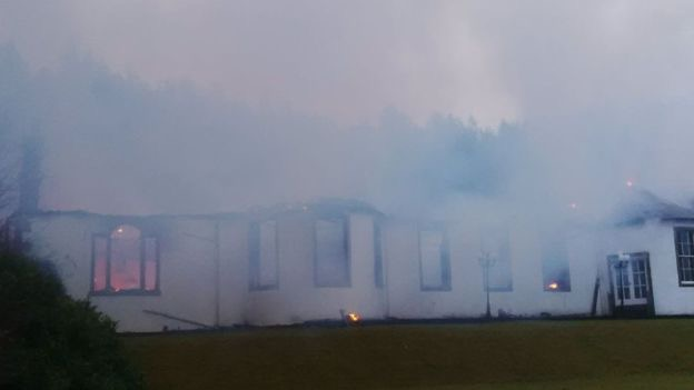 """Owner """"distraught"""" after Highland mansion gutted in blaze"""