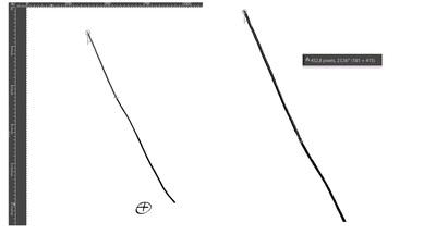 line drawn upper