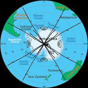 antartica map linecircle