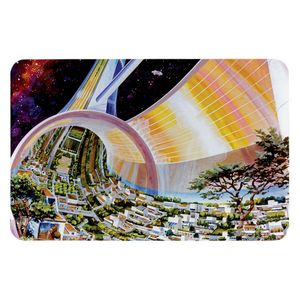 Torus Space Habitat Artist Concept Rectangular Photo Magnet